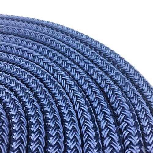 10mm Pre-Spliced Polyester Braided Dockline Mooring Rope Navy Blue 1 x 10 Metres