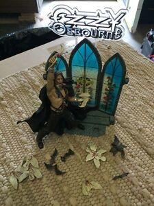 Pa-1 Ozzie Osborne Action Figure Diorama W/ Headless Bats