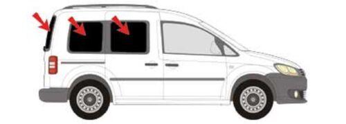 AUTO protezione solare vetri-tinta finale parasole VW Caddy 4 dal 15