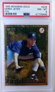 1995-95-Bowman-Minor-League-MVP-Derek-Jeter-Rookie-RC-Gold-Foil-229-PSA-8