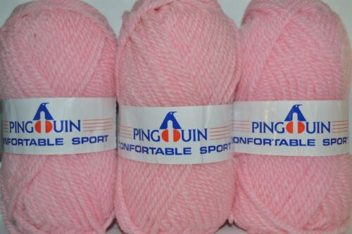 "10 balls x 50gm PETAL PINK 12 Ply ""CONFORTABLE SPORT"" Made in France"