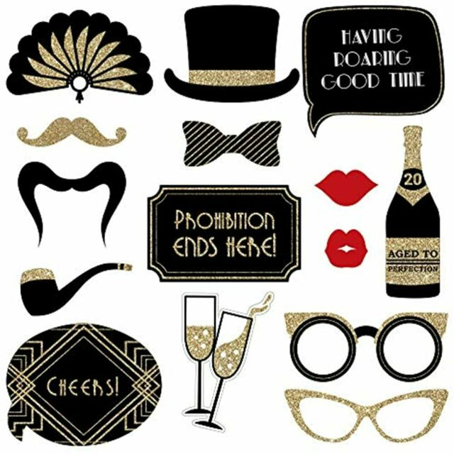 Roaring 20s Photo Booth Props FULLY ASSEMBLED New Years ...