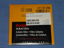 Kodak Wratten Filter  100x100  CC 25B