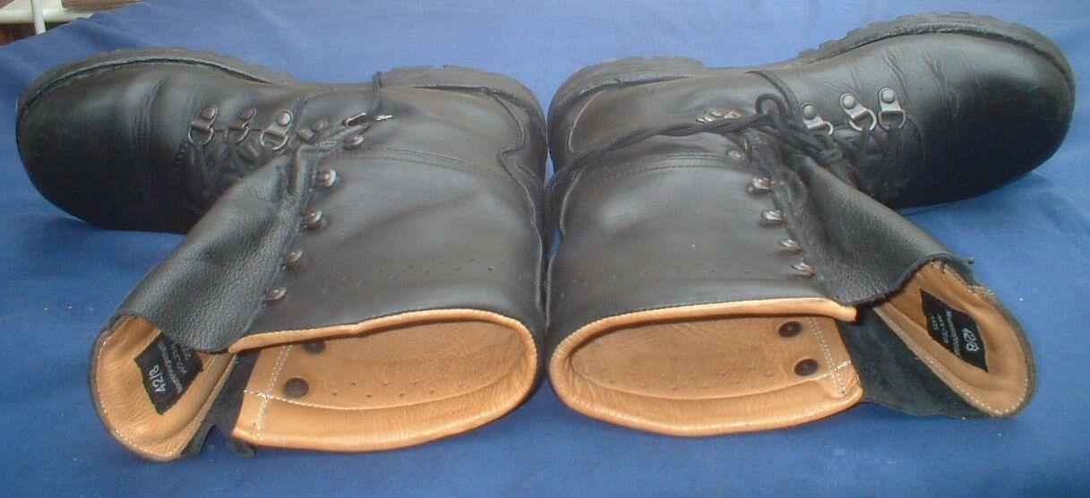Botas de combate Austrian Caminar Excedente Cuero Excedente Caminar Ejército De Montaña-Totalmente Forrado b1f28c