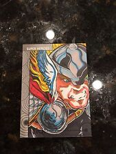 Thor Sketch Card by Elvin Hernandez! Marvel Fleer Retro 2013!