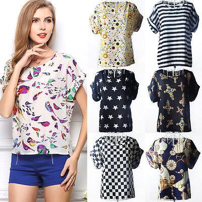 New Fashion Women Chiffon Short Sleeve T Shirt Casual Tops Ladies' Summer Blouse