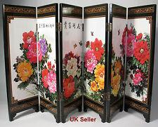 Scrivania Decorativa fiori peonie cinesi 6 pannello pieghevole schermo