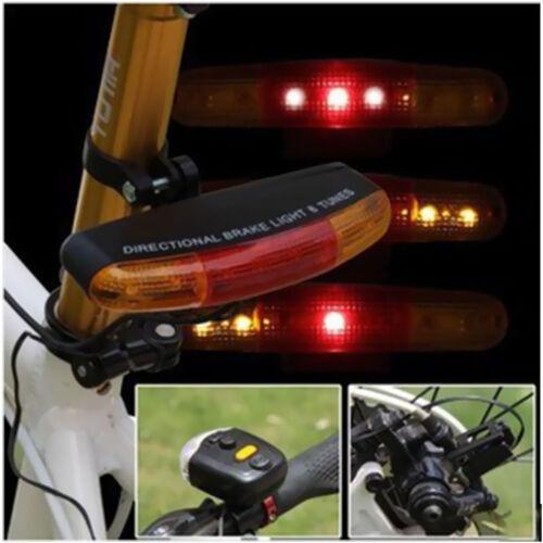 LED Horn Light Bike Bicycle Tail Turn Fixed mount Brake Signal Turning Indicator