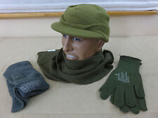 US ARMY WW2 Vintage Winter Set Jeep Cap Mütze Schal Handschuhe gloves