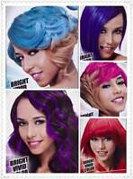 Kiss Express Hair Color Complete Kit W/ Bleach ,semi Perm.bright Vivid Colors