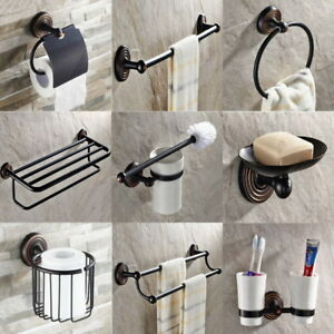 Image Is Loading Oil Rubbed Bronze Bathroom Accessories Set Bath Hardware