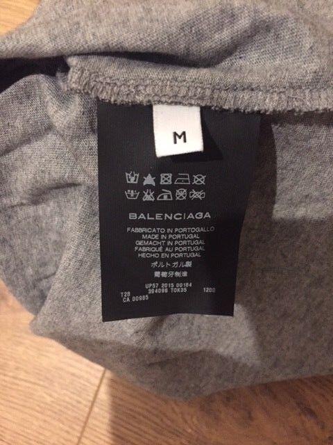BALENCIAGA M/48 plomb gris t-shirt imprimé taille M/48 BALENCIAGA 83cd81