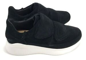 62ca65924ea Details about UGG Ashby Spill Seam Sneaker (Black) Women's Hook and Loop  Platform Style Shoes