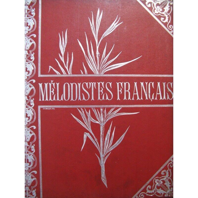 Die mélodistes französisch 20 Teile Chant Piano 1893 Partitur sheet music score