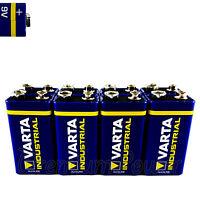 8 x Varta 9V batteries Alkaline Industrial 6LR61 E-Block 4022 LR22 PP3 MN1604