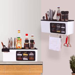 Wall-Mount-Cutlery-Spice-Seasoning-Sundries-Storage-Box-Rack-Shelf-Organizer-Set