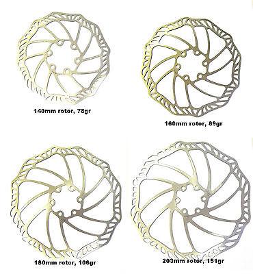 2019 Mode Ultra Light Stainless Steel Disc Brake Rotors, 140mm, 160mm, 180mm, 203mm