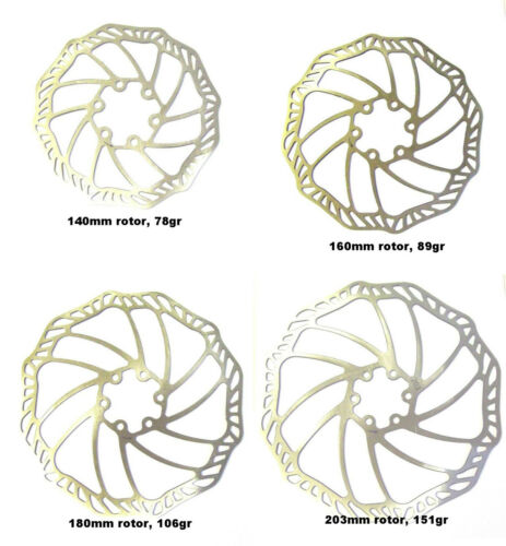 180mm 203mm ultra light stainless steel disc brake rotors 160mm 140mm