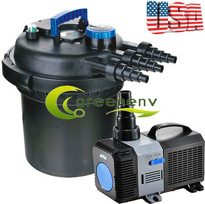 Combo Kit 5000 Gal Pressure Filter 18-UV Sterilizer Koi Fish 4200 GPH Pond Pump