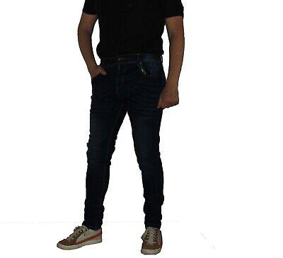 NWT Hugo Boss Green Men/'s Montana Denim Skinny Straight Jeans Dark Blue