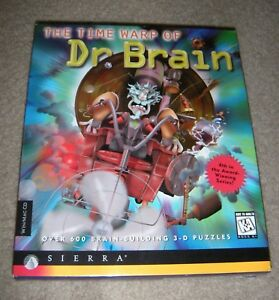 Details about Time Warp of Doctor Brain - Sierra - CD for Windows 3 195 &  MAC OS 7 0 - NEW
