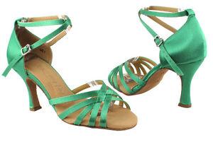Latin Salsa Very Fine Ballroom Competitive Dance Shoe 2828LEDSS Brown Satin