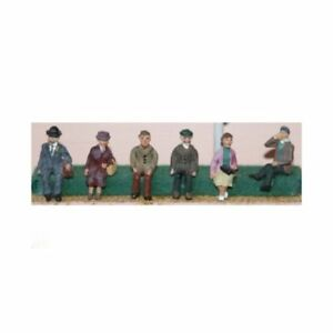 6-x-1950-039-s-seated-figures-OO-Scale-Unpainted-Langley-F51