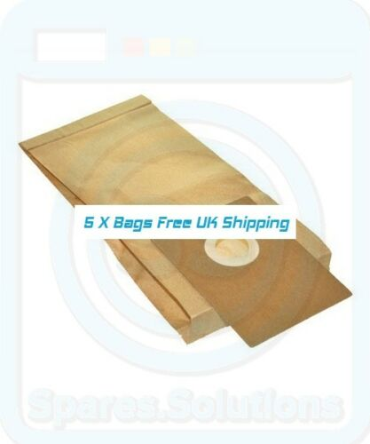 5x Dust Bags for Electrolux FILTAIRE B2284 HARMONY HiLight E82 U82 Type