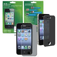 Privacy Anti-Spy Anti-Peak Screen Protector Shield Film For Apple iPhone 4 4S 4G