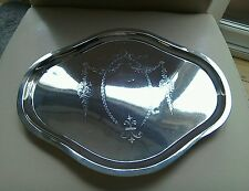 ANTIQUE SILVER DRESSING TABLE TRAY BIRMINGHAM 1911c