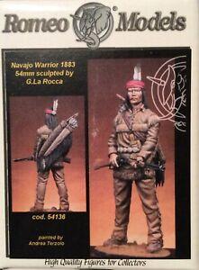 Ss Romeo Models 54mm - Rm.54-136 - Tiger Jack - Navajo Warrior (1883) De Haute Qualité Et Peu CoûTeux