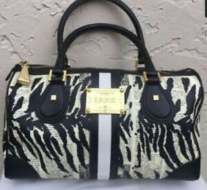 Details About Lamb Gwen Stefani Newspaper Zebra Sdy Satchel Doctors Bag