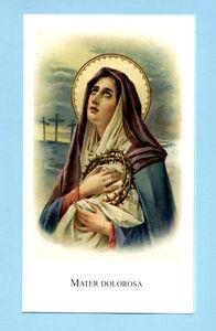 SANTINO MADONNA S.S. MATER DOLOROSA IMAGE PIEUSE - HOLY CARD SANTINI | eBay