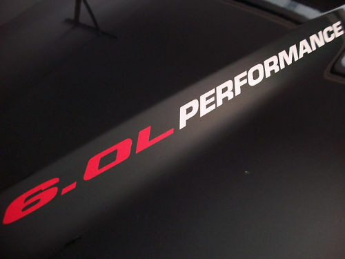 6.0L PERFORMANCE decals Ford F250 F350 Powerstroke Power Stroke 03 04 05 06 07