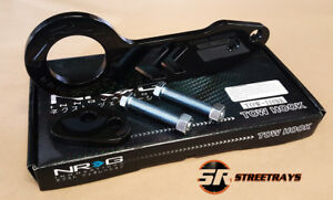 WHITE FINISH NRG Rear Tow Hook Kit Honda /& Acura Universal JDM Style