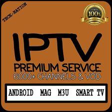 IPTV 12 Month Subscription (6000+ Chan) VOD, Android, Mag Boxes, M3U *PREMIUM*