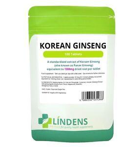 Lindens-Korean-Ginseng-1300mg-26mg-Ginsenosides-100-Tablets-Quality-Supplement