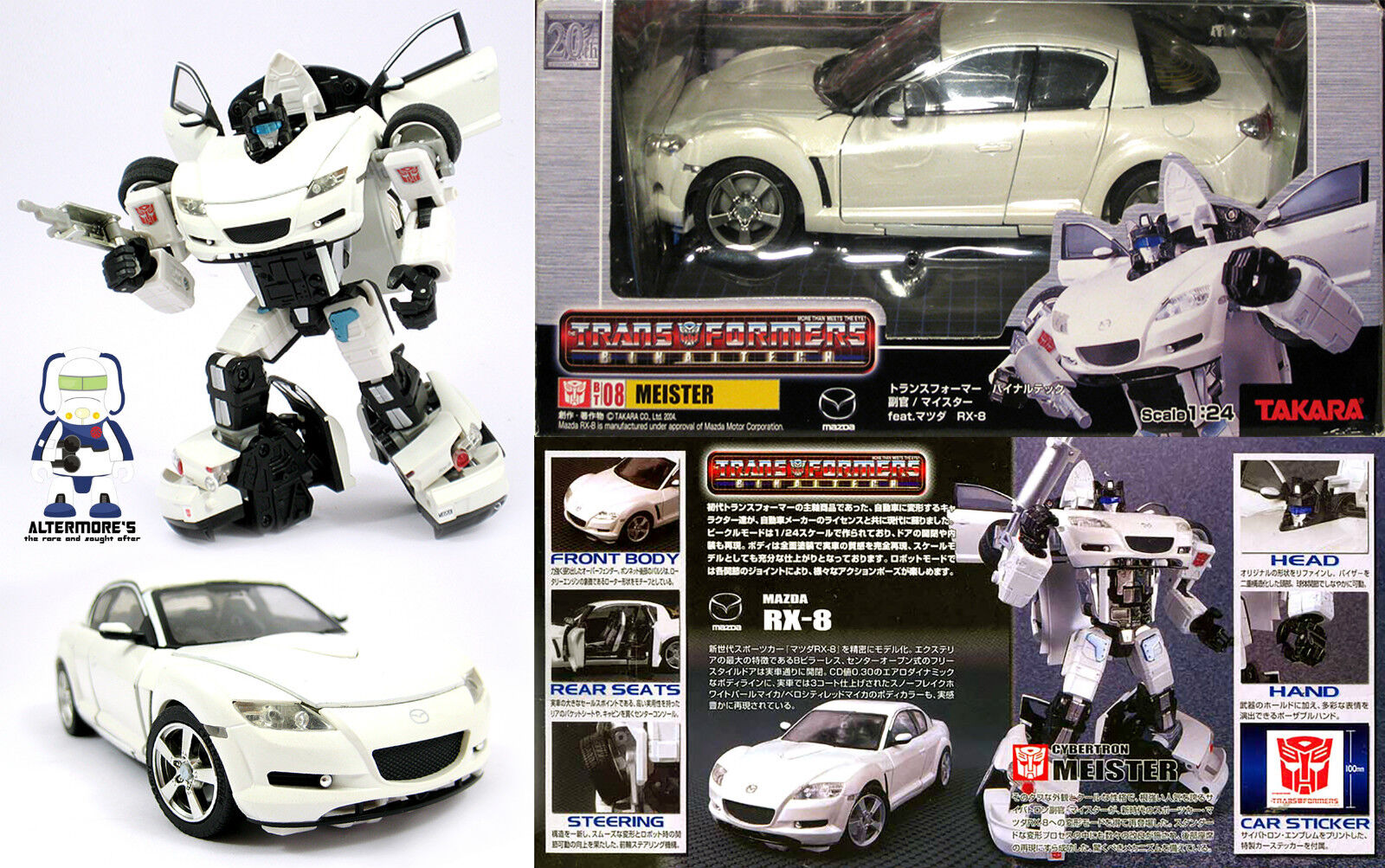 Transformers Takara Binaltech BT-08 Meister   Jazz Mazda RX-8 MIB