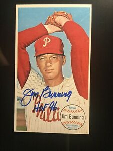 1964-Topps-Giant-10-Jim-Bunning-d-2017-HOF-96-Phillies-Signed-Autographed
