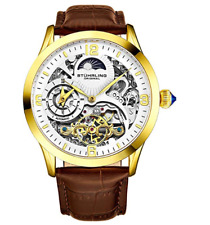 94862c6a2 item 3 Stührling Original Automatic Watch for Men Skeleton Watch Dial, Dual  Time, AM/PM -Stührling Original Automatic Watch for Men Skeleton Watch Dial,  ...