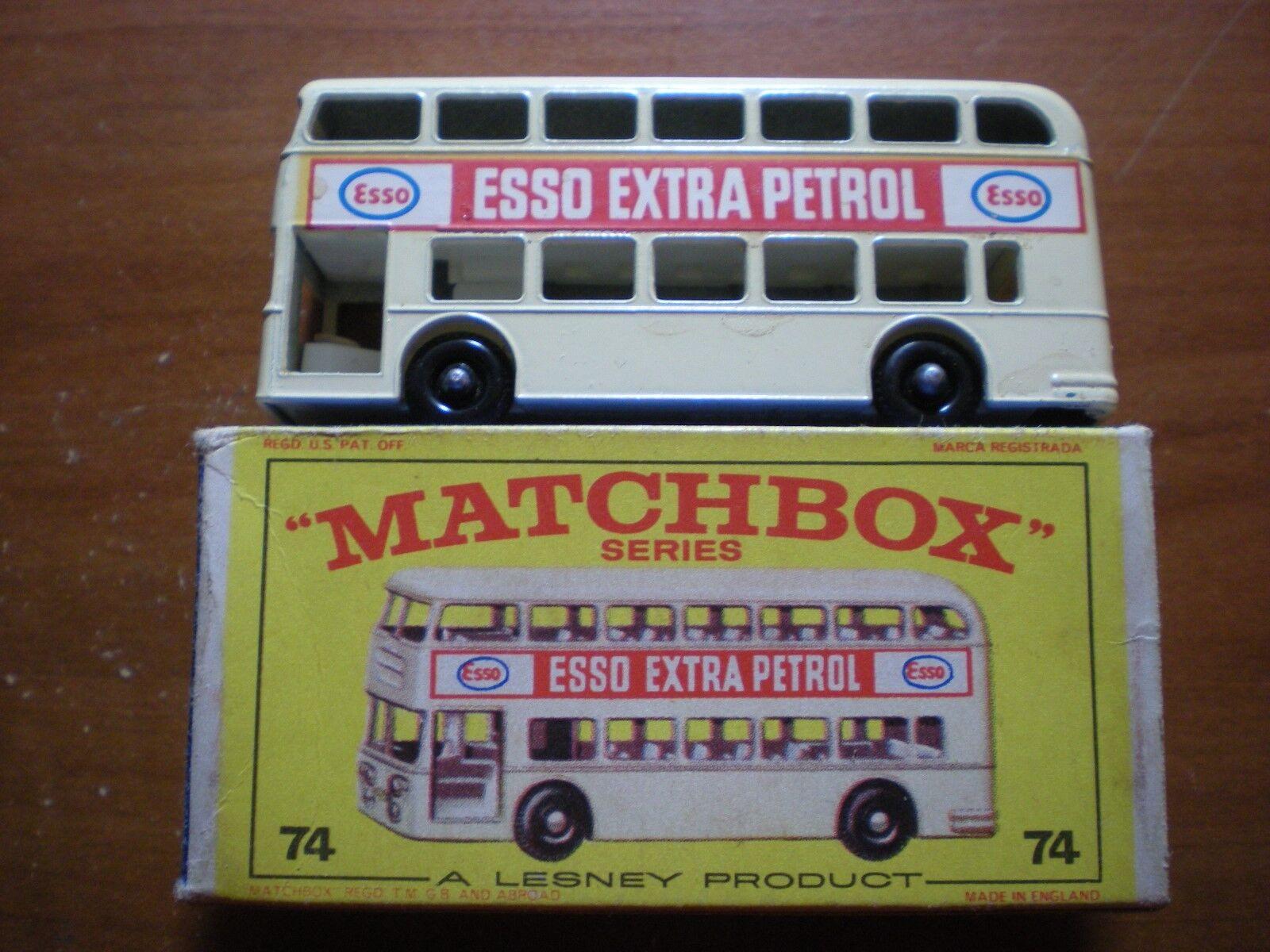 1960s Matchbox LNIB Daimler Daimler Daimler Bus, Rare White with ESSO EXTRA in Original Box e45411