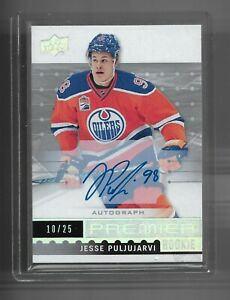 2016-17 Premier Rookie autograph Jesse Puljujarvi Edmonton Oilers 10/25 SP