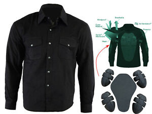 Australian-Bikers-Gear-CE-armour-Motorcycle-Flannel-Shirt-made-with-Kevlar-Lined