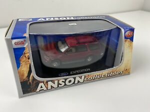 Anson-1-43-escala-Diecast-Ford-Expedition-Rojo