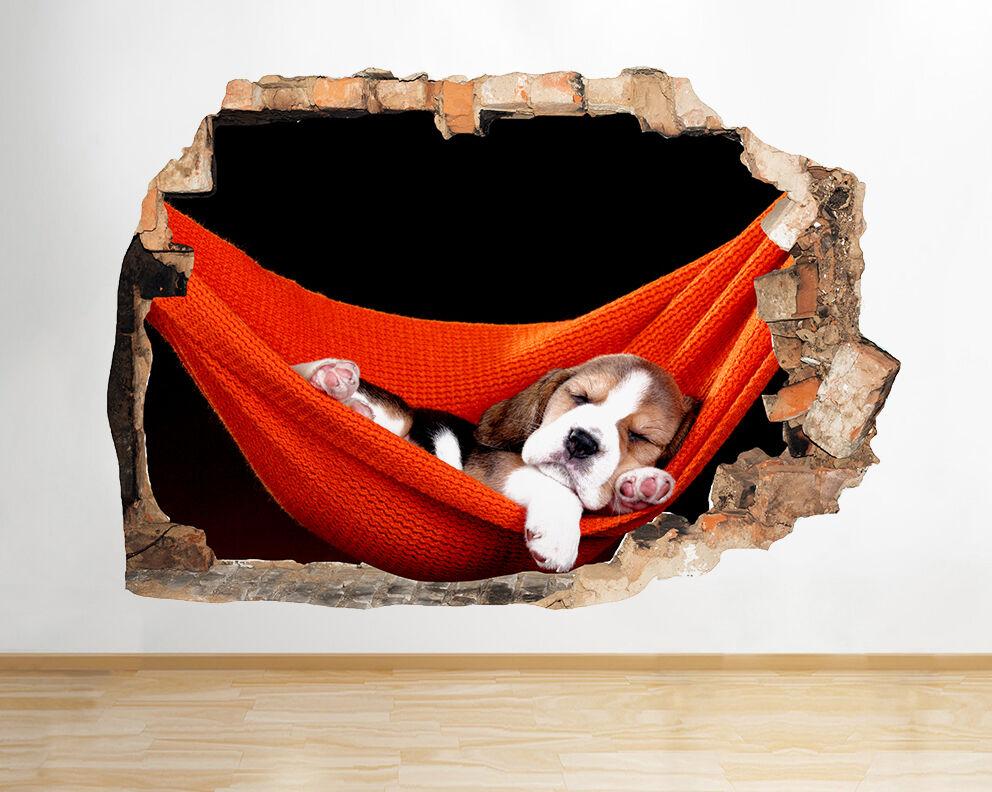 Q478 Dog Relax Carino Dormire stanza del vinile adesivo da parete camera bambini