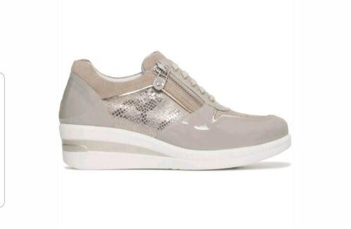 Crema Giardini Rialzo Scarpe P805062d Vernice Zip Donna Sneakers Lacci Nero 446 vwq8CAxvd