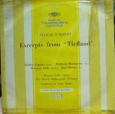 """Eugene D'Albert(10"""" Vinyl)Excerpts From 'Tiefland'-Deutsche Grammophon-DG 17002-"""