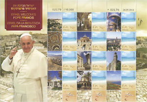 POPE-FRANCIS-034-Visits-Israel-034-Collection-Israel-Stamps-Sheetlet-MNH