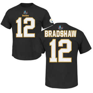 the latest 15253 e8ca9 Details about Terry Bradshaw #12 Pittsburgh Steelers Mens Black Football  T-Shirt MEDIUM