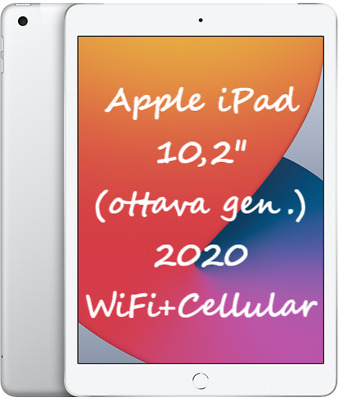 "Apple IPAD 2020 32GB Wifi + Cellulaire 10.2 "" Mymj2ty/A Nouveau Italie Tablette"